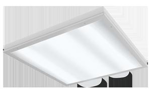 Светодиодный светильник 595х595х55 мм со степенью защиты IP54