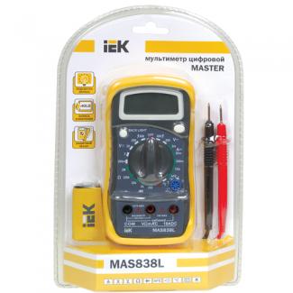 Мультиметр IEK цифровой Master MAS838L
