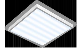 Светодиодный светильник 595х595х50мм аварийный для помещений с высокими потолками