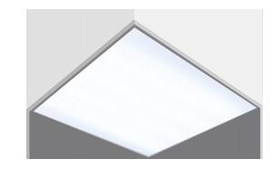 Светодиодный светильник 595х595х50мм накладной аварийный