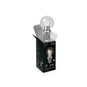 Светодиодная лампа gauss  шар прозрачный 3W