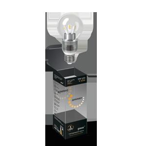 Диммируемая светодиодная лампа gauss шар прозрачный  5W